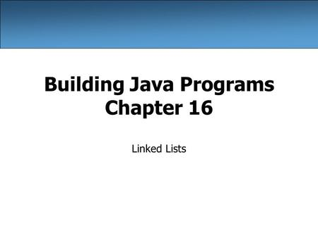 Building Java Programs Chapter 16 Linked Lists. 2 A swap <strong>method</strong>? Does the following swap <strong>method</strong> work? Why or why not? public static void main(String[]