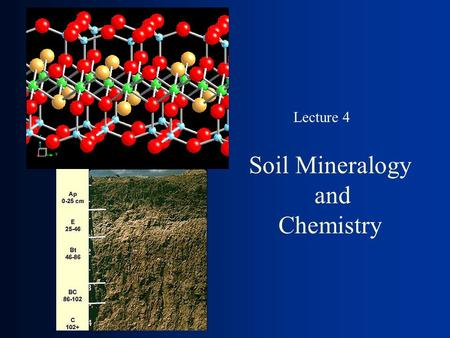 Soil Mineralogy and Chemistry Lecture 4. Phyllosilicate Minerals.