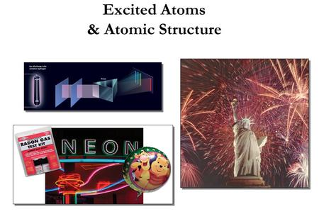 Excited Atoms & Atomic Structure. © 2006 Brooks/Cole - Thomson The Quantum Mechanical Picture of the Atom Basic Postulates of Quantum Theory 1.Atoms and.