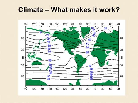 Climate – What makes it work?. We start in the 1700's. People sailed across the oceans in tall sailing ships. They had a very good idea of the prevailing.