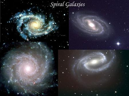 Spiral Galaxies. Elliptical Galaxies Irregular Galaxies.