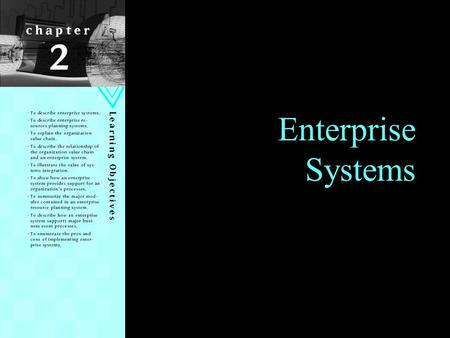 Enterprise Systems.