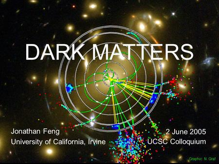 2 June 05Feng 1 DARK MATTERS Jonathan Feng University of California, Irvine 2 June 2005 UCSC Colloquium Graphic: N. Graf.