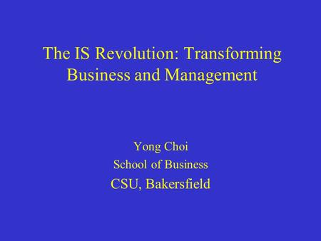 the information systems revolution transforming business Transforming the national airspace system  the evolution of systems engineering  the information revolution is reducing obstacles to interactions among .