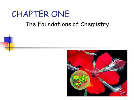 The Foundations of Chemistry