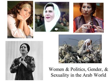 Women & Politics, Gender, & Sexuality in the Arab World.