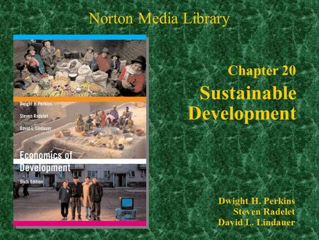Chapter 20 Sustainable Development Norton Media Library Dwight H. Perkins Steven Radelet David L. Lindauer.