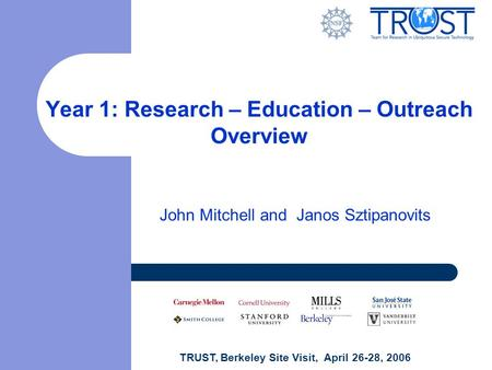 Year 1: Research – Education – Outreach Overview