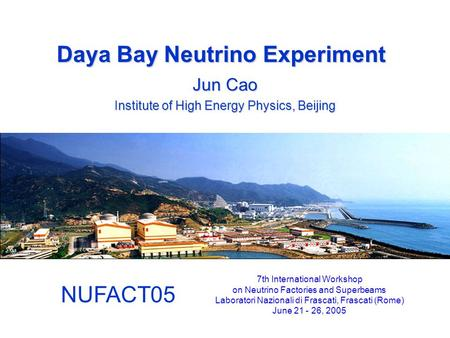 Daya Bay Neutrino Experiment
