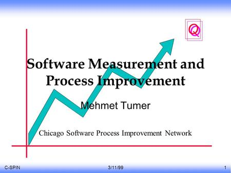 C-SPIN3/11/991 Q Q Software Measurement and Process Improvement Mehmet Tumer Chicago Software Process Improvement Network.