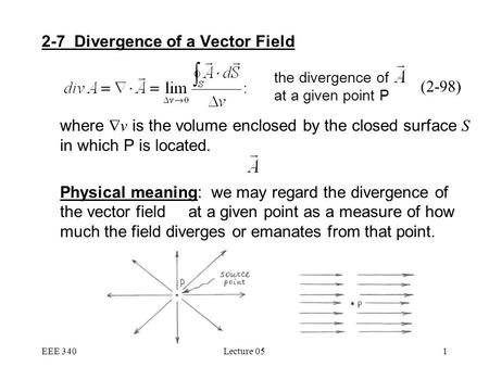 2-7 Divergence of a Vector Field