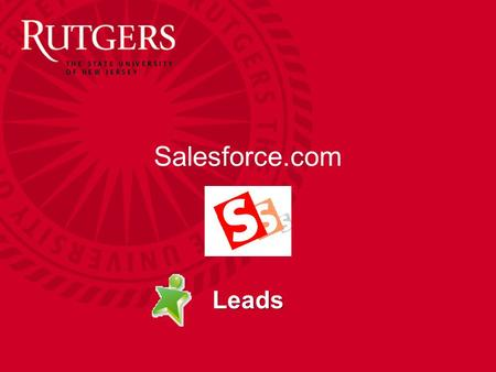 Salesforce.com Leads. Unit Name Leads The leads SF object provides the ability to track prospective students You can create new leads fm a variety of.