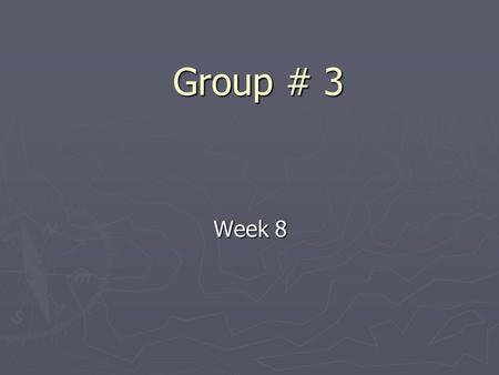 Group # 3 Week 8. Progress so far ► Writing the main program in PC ► Writing code in VB to interprets NMEA statement ► Design the interface for the program.