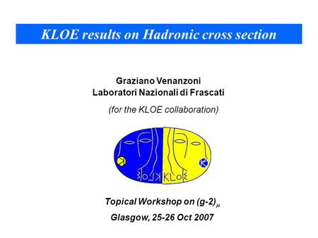 KLOE results on Hadronic cross section