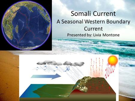 Somali Current A Seasonal Western Boundary Current Presented by: Livia Montone.
