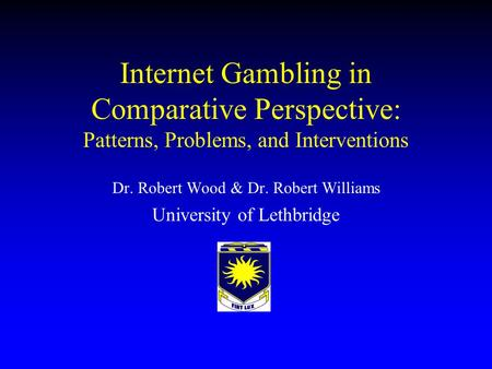 an analysis of internet gambling Internet gambling bibliography: update and analysis updated: october 2005 & january 2006 rhys stevens, librarian, alberta gaming research institute rhysstevens@ulethca.
