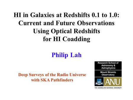 HI in Galaxies at Redshifts 0.1 to 1.0: Current and Future Observations Using Optical Redshifts for HI Coadding Deep Surveys of the Radio Universe with.