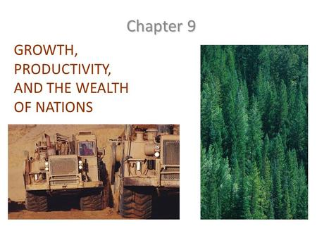 GROWTH, PRODUCTIVITY, AND THE WEALTH OF NATIONS Chapter 9.