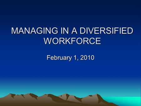 motivating culturally diverse workforce in an The best leadership style for a culturally diverse organization  of globalization, the workforce in the organizations is diverse, not just in terms of region and culture, but also in terms of education, thinking, understanding etc  with a culturally diverse team, there are high chances of conflicts along with.