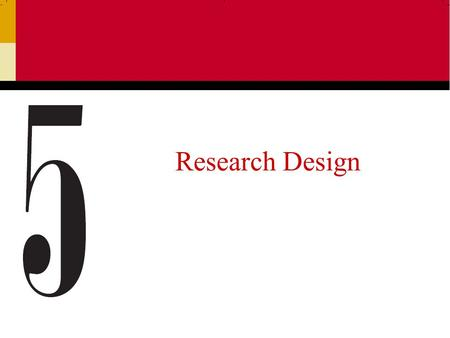 Research Design.