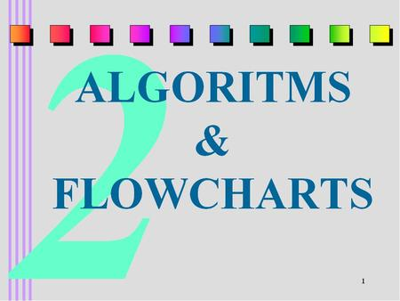 ALGORITHMS Algorithm: Is an ordered set of unambiguous, executable steps defining a terminating process Unambiguous:during the execution of an algorithm,