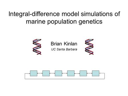 Brian Kinlan UC Santa Barbara Integral-difference model simulations of marine population genetics.