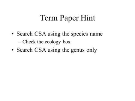term paper search