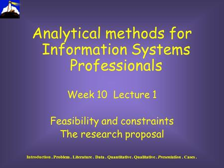 Analytical components of a qualitative dissertation