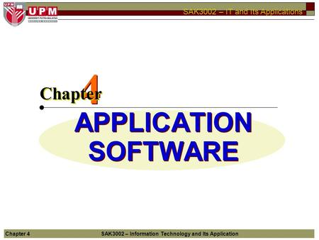 4 APPLICATION SOFTWARE Chapter