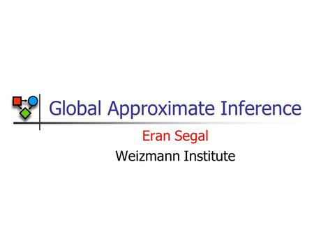 Global Approximate Inference Eran Segal Weizmann Institute.