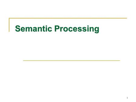 1 Semantic Processing. 2 Contents Introduction Introduction A Simple Compiler A Simple Compiler Scanning – Theory and Practice Scanning – Theory and Practice.