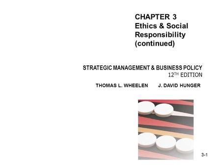 CHAPTER 3 Ethics & Social Responsibility