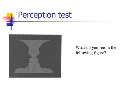 Perception test What do you see in the following figure?