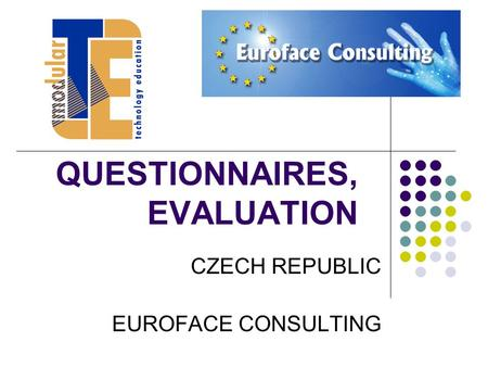 QUESTIONNAIRES, EVALUATION CZECH REPUBLIC EUROFACE CONSULTING.