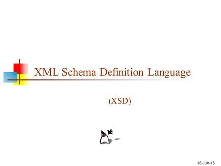XML Schema Definition Language