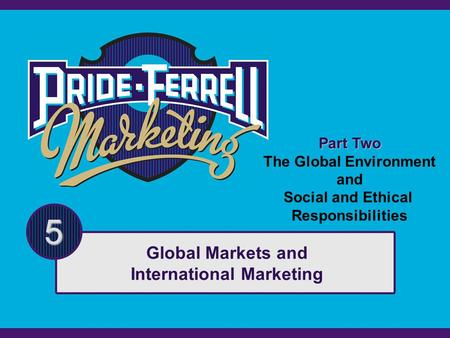 Global Markets and International Marketing