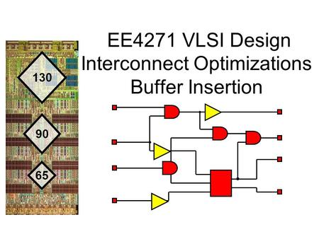 EE4271 VLSI Design Interconnect Optimizations Buffer Insertion.