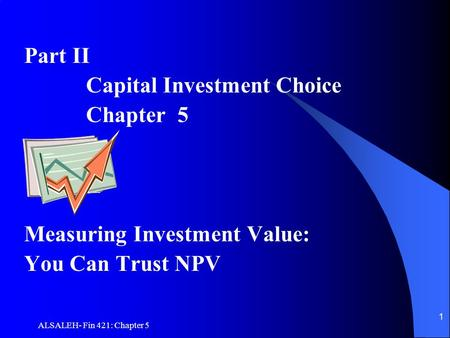 Capital Investment Choice Chapter 5