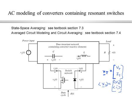 AC modeling of converters containing resonant switches