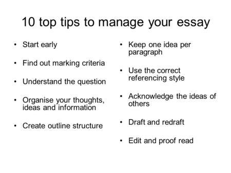 Creative ways to start off an essay