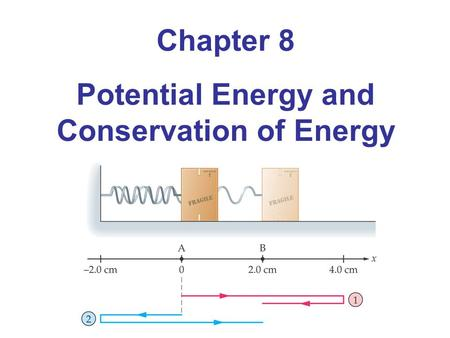 Chapter 8 Potential Energy and Conservation of Energy.