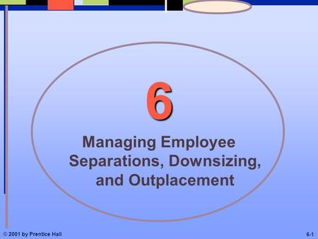© 2001 by Prentice Hall 6-1 6 Managing Employee Separations, Downsizing, and Outplacement.