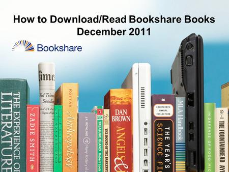 How to Download/Read Bookshare Books December 2011.