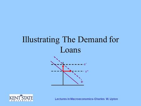 Lectures in Macroeconomics- Charles W. Upton Illustrating The Demand for Loans.