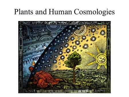 Plants and Human Cosmologies. Areas where special plants are used to enter another world.