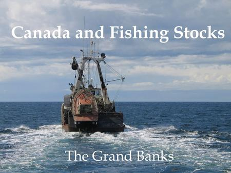Canada and Fishing Stocks The Grand Banks. Background Since the 1970s, the fisheries in Eastern Canada's Grand Banks have suffered disastrous depletion,
