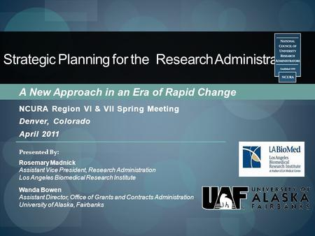 Strategic Planning for the Research Administrator: