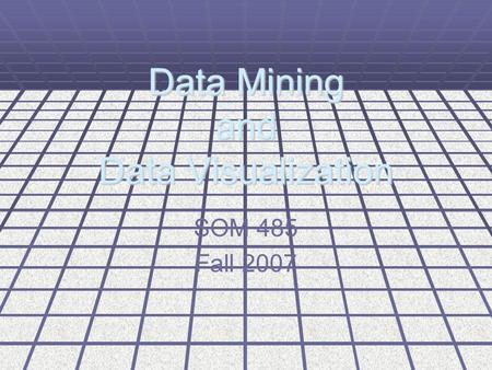 Data Mining and Data Visualization