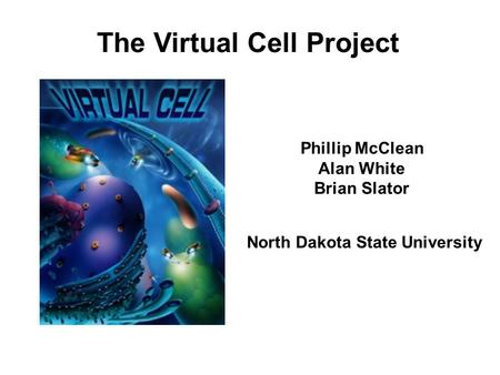 The Virtual Cell Project Phillip McClean Alan White Brian Slator North Dakota State University.