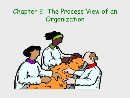 "Chapter 2: The Process View of an Organization. ""continuous or semi-continuous"" ""intermittent"" Process Structures Continuous Processing Repetitive (assembly."
